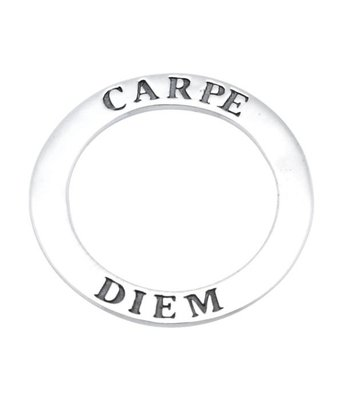 Zilveren Tekstring Carpe diem Pluk de dag kettinghanger