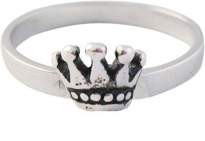 Zilveren Kinder ring maat 13  mm. mijn Princes
