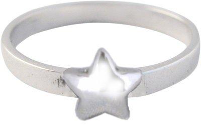 """Zilveren Kinder ring maat 13 t/m 15 mm. met """"Jij bent mijn ster"""""""