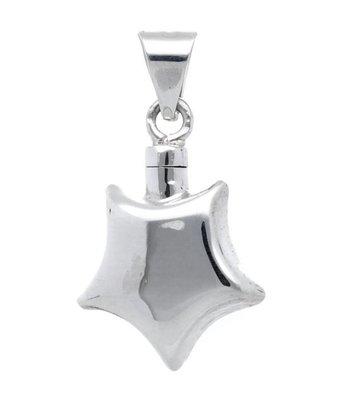 Zilveren Ashanger Ster kettinghanger