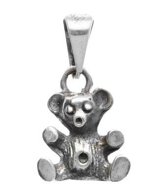 Zilveren Speelgoedbeer kettinghanger