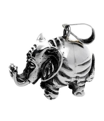 Zilveren Olifant XL kettinghanger