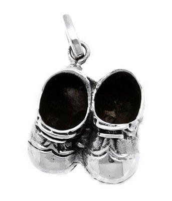 Zilveren Peuterschoenen jongen kettinghanger