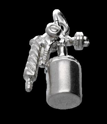 Zilveren Verfspuit kettinghanger