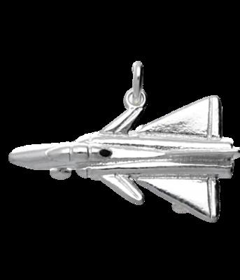 Zilveren Straaljager vliegtuig kettinghanger