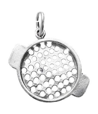 Zilveren Zeef kettinghanger