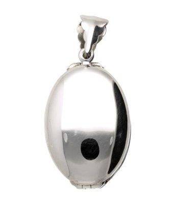 Zilveren Foto Medaillon Ovaal 4 foto's kettinghanger
