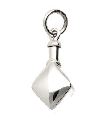 Zilveren Ashanger ruit kettinghanger