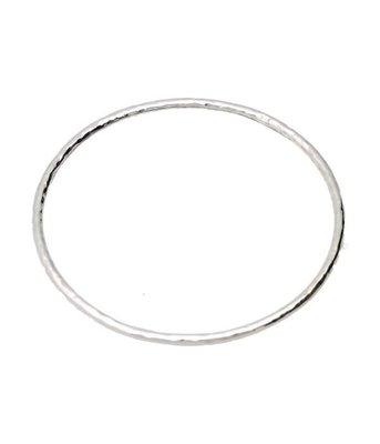 Zilveren Slavenarmband gehamerd 22 cm