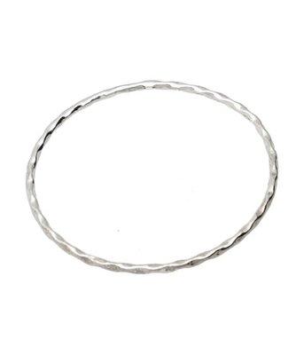 Zilveren Slavenarmband met draai 23 cm