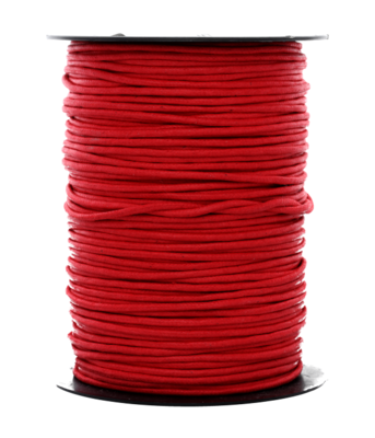 Waskoord 2.0 mm. rood waxkoord - per 10 meter