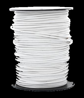 Waskoord 2.0 mm. wit waxkoord - per 10 meter