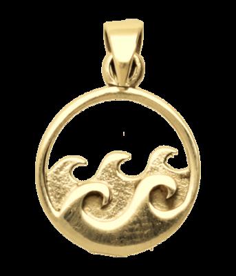 Gouden Golven in de branding kettinghanger