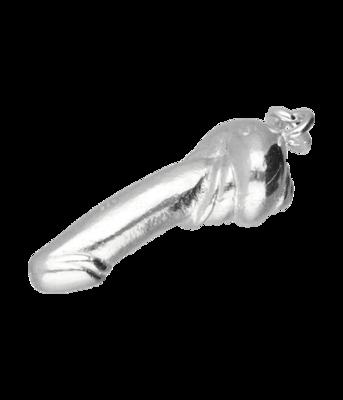 Zilveren Penis uit slakkenhuis kettinghanger