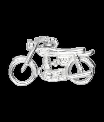 Zilveren Engelse motor 3D kettinghanger