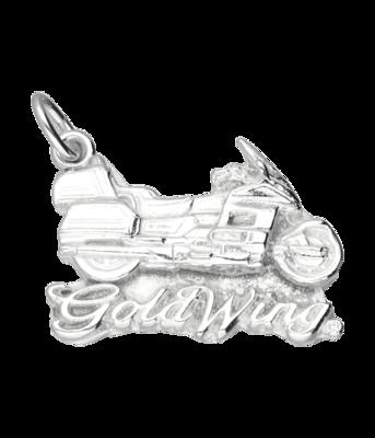 Zilveren Honda Goldwing motor vlak kettinghanger