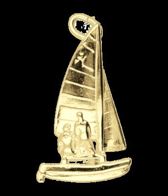 Gouden Catamaran ketting hanger