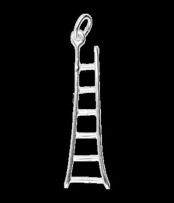 Zilveren Ladder ketting hanger