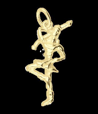 Gouden Majorette meisje ketting hanger