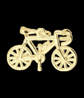 Gouden Racefiets klein met bidon ketting hanger