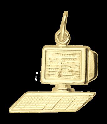 Gouden Computer ketting hanger