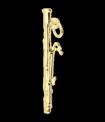 Gouden Fagot ketting hanger