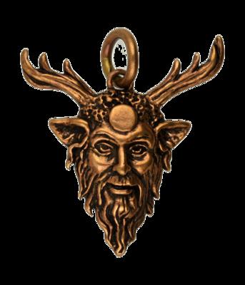 Cernunnos masker ketting hanger - brons