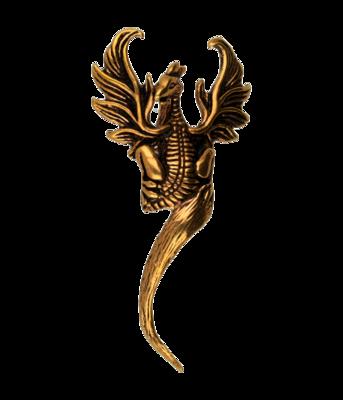 Feniks ketting hanger - brons