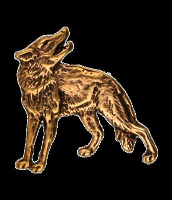 Wolf ketting hanger - brons