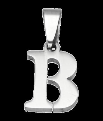 RVS Letter B ketting hanger - edelstaal