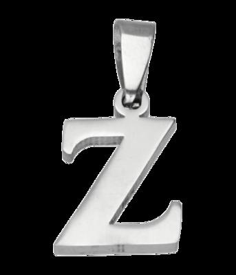 RVS Letter Z ketting hanger - edelstaal