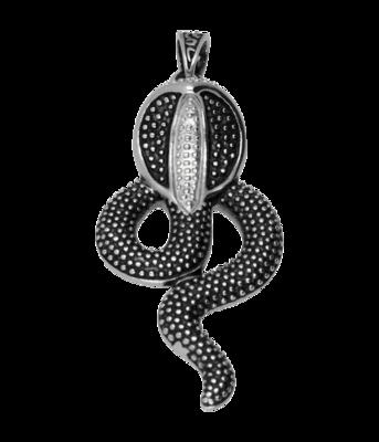 RVS Cobra groot ketting hanger - edelstaal