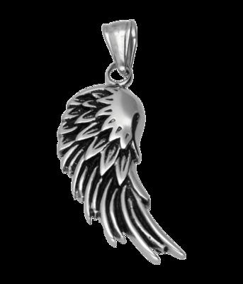 RVS Engel vleugel ketting hanger - edelstaal