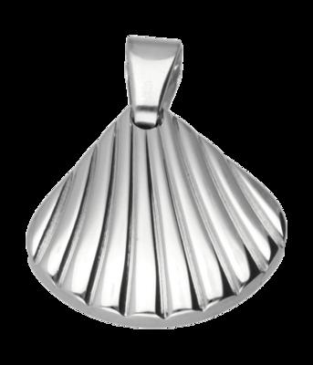 RVS Mossel schelp ketting hanger - edelstaal