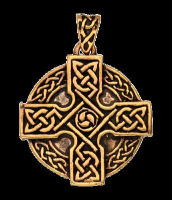 Keltisch kruis ketting hanger - brons