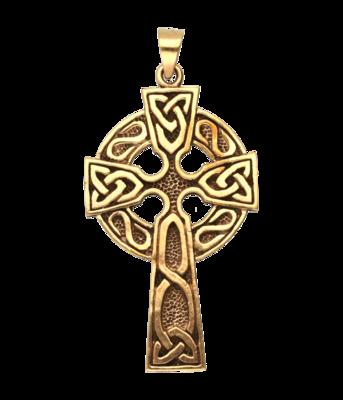 Bronzen Keltisch Kruis kettinghanger
