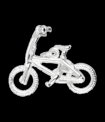 Zilveren Crossfiets ketting hanger