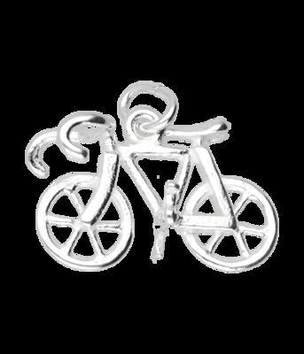 Zilveren Racefiets ketting hanger - klein