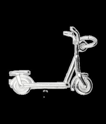 Zilveren Step ketting hanger