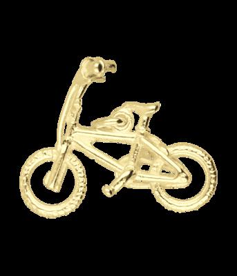 Gouden Crossfiets ketting hanger