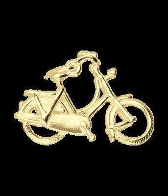 Gouden Damesfiets ketting hanger
