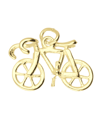 Gouden Racefiets ketting hanger