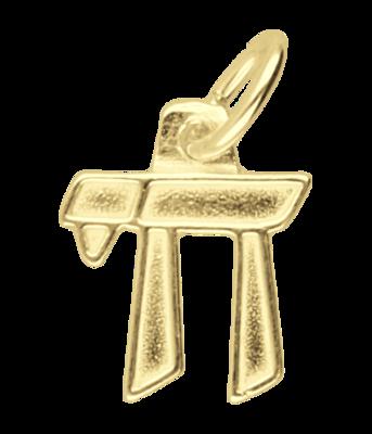 Gouden Chai teken ketting hanger