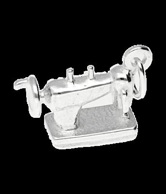 Zilveren Naaimachine ketting hanger