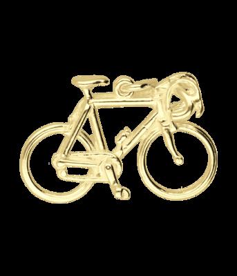Gouden Racefiets groot ketting hanger
