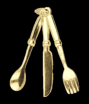 Gouden Bestek groot kettinghanger