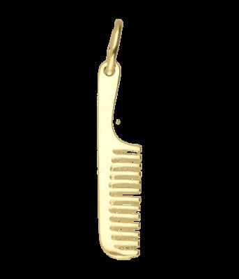 Gouden kam met steel kettinghanger