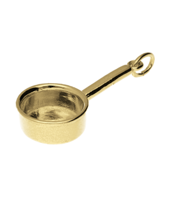Gouden Steelpan kettinghanger