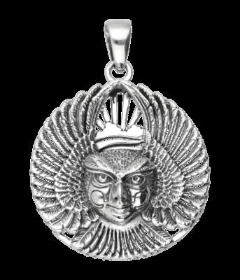Zilveren Ariël God van de vogels kettinghanger