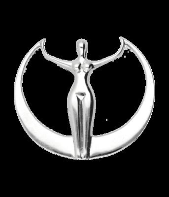 Zilveren Godin kettinghanger